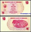 Zimbabué - 10 DOLLARS 2006