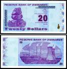 Zimbabué ZWE20(2009)e - 20 DOLLARS 2009
