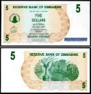 Zimbabué - 5 DOLLARS 2006