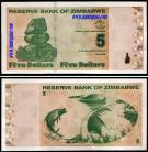 Zimbabué ZWE5(2009)d - 5 DOLLARS 2009