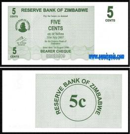 Zimbabué ZWE005(2006)e - 5 CENTS 2006