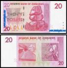 Zimbabué - 20 DOLLARS 2007