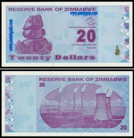 Zimbabué ZWE20(2009)l - 20 DOLLARS 2009