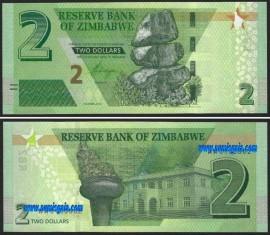 Zimbabué ZWE2(2019)g - 2 DOLLARS 2019