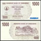 Zimbabué - 1000 DOLLARS 2006