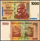Zimbabué - 1000 DOLLARS 2007