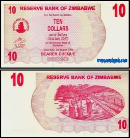 Zimbabué ZWE10(2006) - 10 DOLLARS 2006