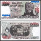 Argentina - 10 PESOS 1983-84ND